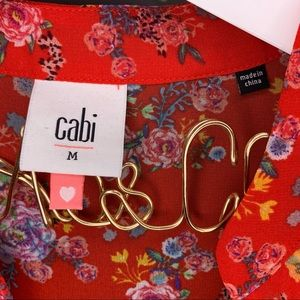 CAbi Tops - Heart of Cabi Crush Ruffle Red Floral Top